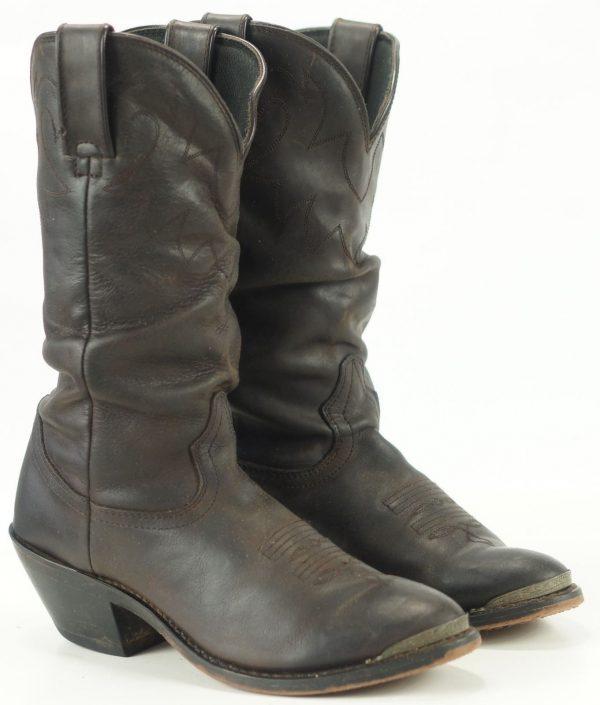 Durango Women's Brown Leather Western Cowboy Slouch Boots Super Comfy Size 7 M