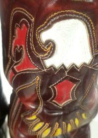 Texas Vintage Inlay Cowboy Western Boots Multicolor Eagles US Made Men
