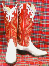 larry mahan vintage womens cowbot western boots (10)