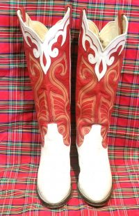 larry mahan vintage womens cowbot western boots (11)