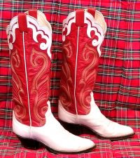 larry mahan vintage womens cowbot western boots (12)