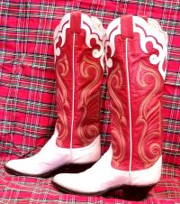 larry mahan vintage womens cowbot western boots (2)