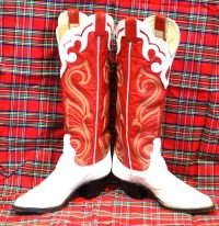 larry mahan vintage womens cowbot western boots (9)
