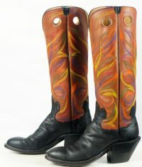 paul bond knee high tall buckaroo cowboy boots womens (12)