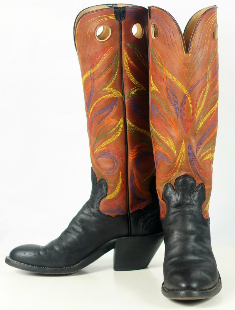 paul bond knee high tall buckaroo cowboy boots womens (14)