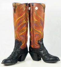 paul bond knee high tall buckaroo cowboy boots womens (15)