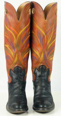 paul bond knee high tall buckaroo cowboy boots womens (6)