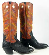 paul bond knee high tall buckaroo cowboy boots womens (8)