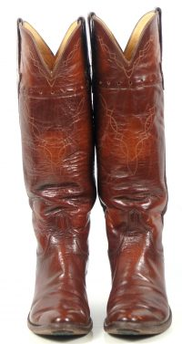 to stanley custom vintage nee high brown cowboy boots womens (1)