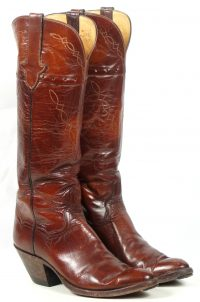 to stanley custom vintage nee high brown cowboy boots womens (2)