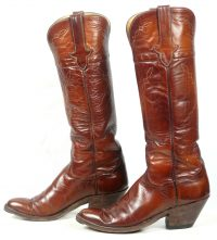 to stanley custom vintage nee high brown cowboy boots womens (7)