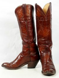 to stanley custom vintage nee high brown cowboy boots womens (9)