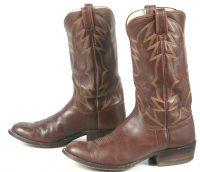 Rare Rusty Franklin Brown Leather Cowboy Boots San Angelo Handmade Men