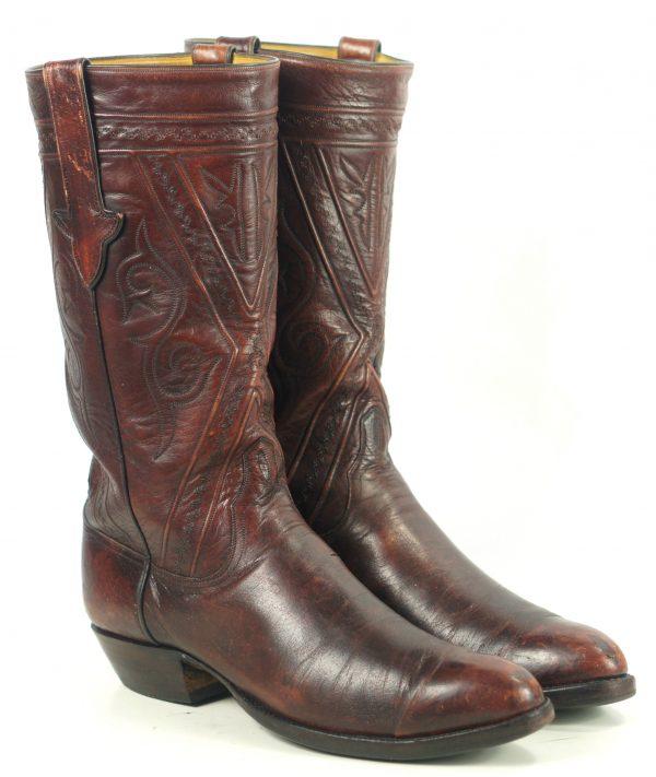 Ammons Stovetop Cowboy Western RIding Boots Vintage 90s Custom El Paso Men