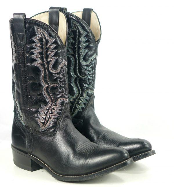 Double H 3225 Westerrn Classic Black Cowboy Work Boots Oil Resistant Men