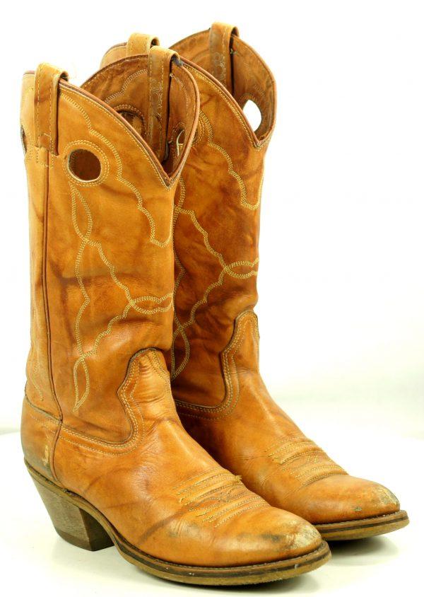 Acme Brown Leather Western Cowboy Buckaroo Boots Vintage US Made Men