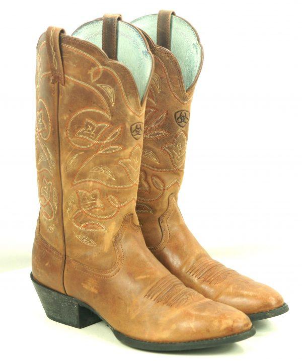 Ariat 10001015 Heritage Western Distressed Brown Cowboy Western Boots Women