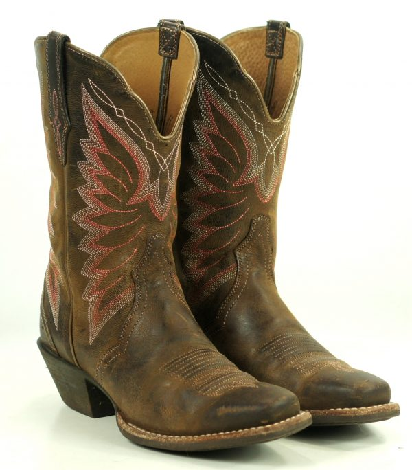 Ariat Autry 10-Inch Western Riding Boot #1001857 8-Row Stitched Wings Womens (1)
