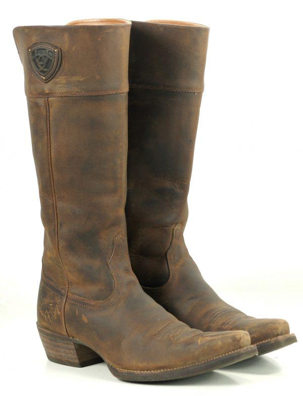Ariat Chandler Cognac Leather 16 Tall Knee High Riding Boots $249 Women