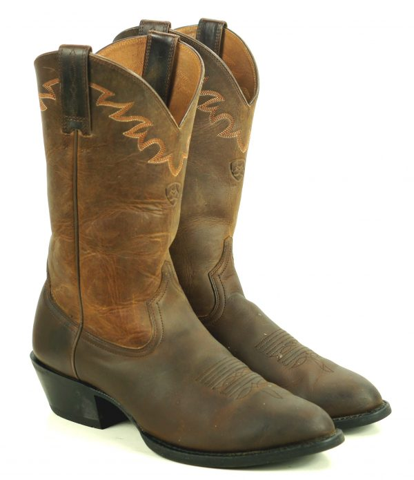 Ariat Sedona Oiled Brown Leather Cowboy Roper Riding Boots #34625 Men