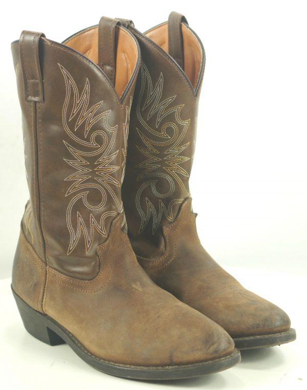 Laredo 4242 Brown Cowboy Western Work Boots Oil Chemical Resistant Men