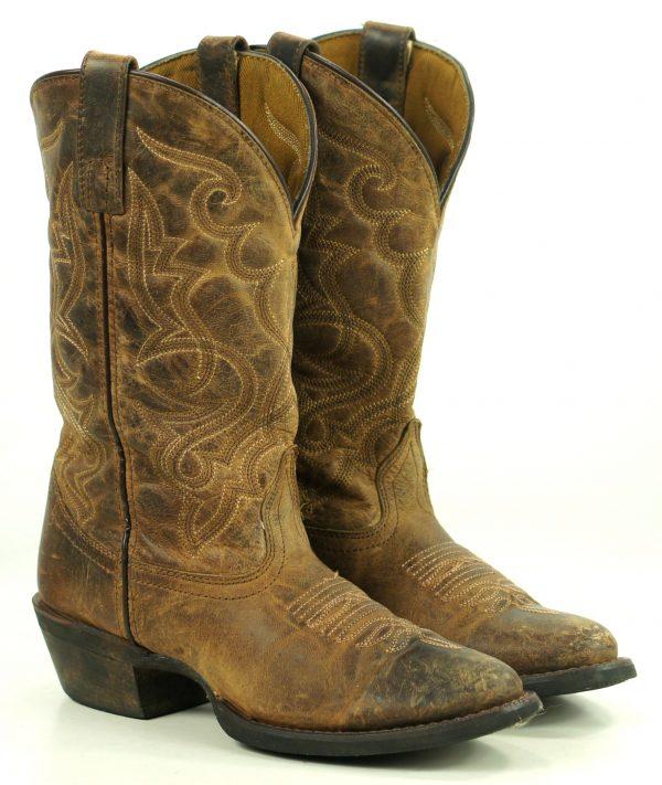 Laredo Maddie Distressed Brown Leather Cowboy Western Boots 51112 Women