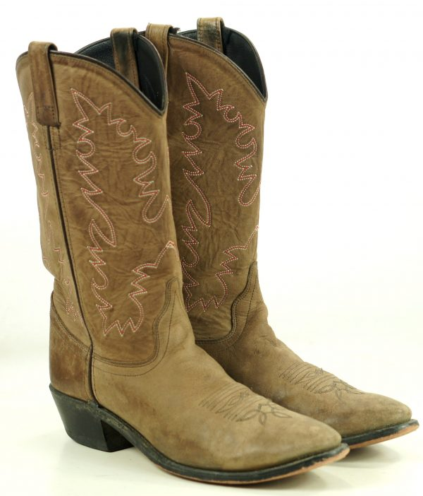 Old West Brown Tan Leather Cowboy Western Boots SCL7014 India Women