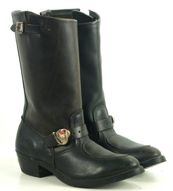 alker Cobra Biker Motorcycle Engineer Harness Boots Vintage US Made Men