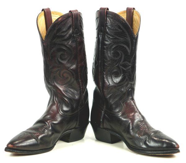 Acme Lush Burgundy Leather Western Cowboy Boots Vintage US Made Men