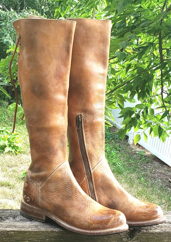 Bed Stu Manchester II 18-Inch Distressed Brown Leather Benchmade Boots Women