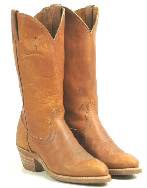 Durango Leather Cowboy Work Boots Chemigum Proof Vintage 1988 US Made Women