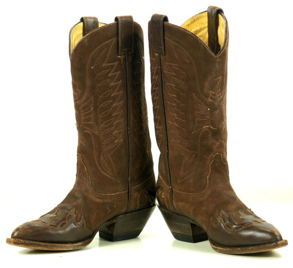 Durango Shade Old West Chocolate Brown Suede Cowboy Wingtip Boots Eagles Women