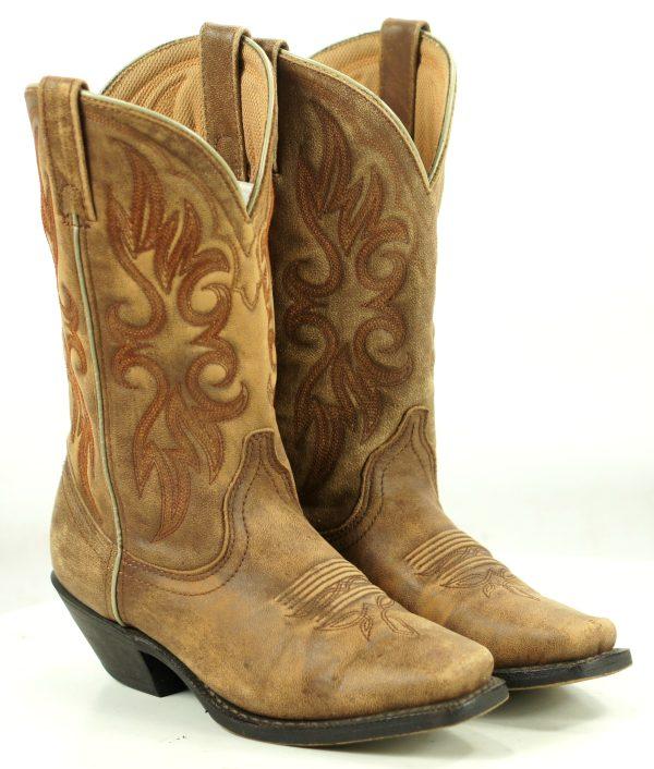 Laredo Maricopa Distressed Brown Leather Cowboy Western Boots 51041 Women