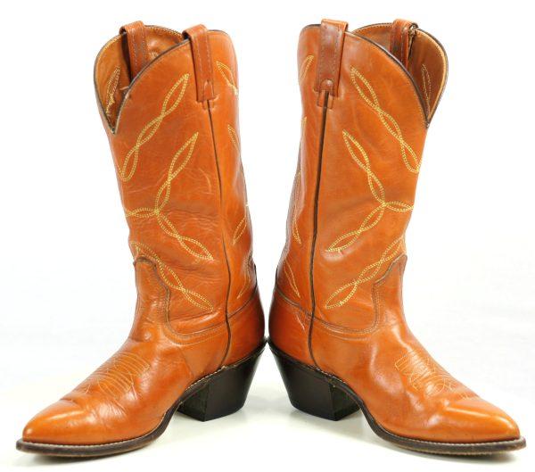 Acme Caramel Leather Cowboy Western Boots 2.5+ Heel Vintage US Made Men