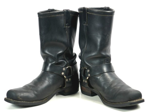 Chippewa Black Leather Biker Motorcycle Engineer Harness Boots US Made Men