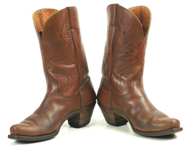Rare Nocona Peewee Cowboy Boots Cloth Pulls Vintage 50s 60s US Made Men